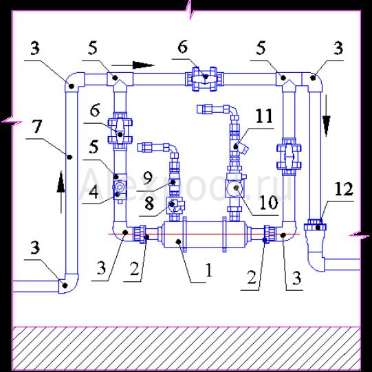 Схема подключения теплообменника в бассеине размеры теплообменника 100 метров квадратных
