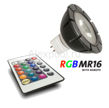 RGB Power LED 12V 3W с пультом ДУ